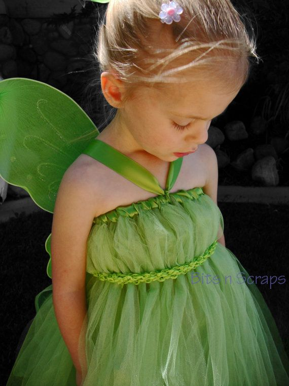 Etsy の Tinkerbell Tutu Dress by BITSnSCRAPS