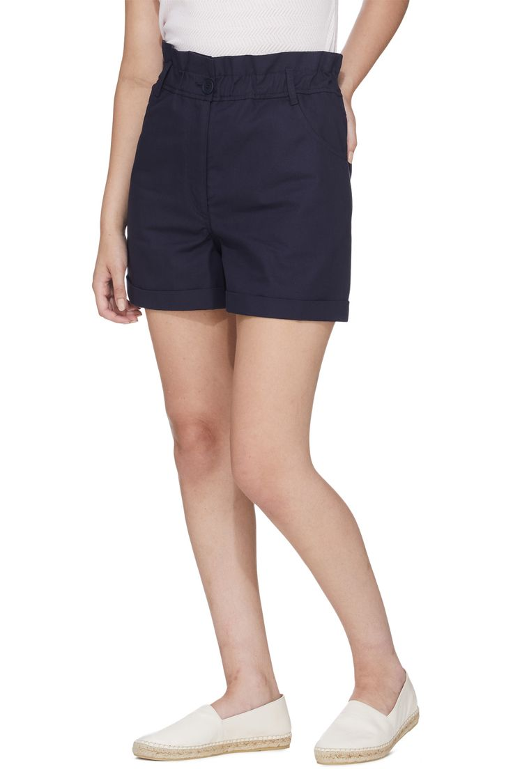 Kenzo - Short Topstitch Pants - Midnight Blue | Pants