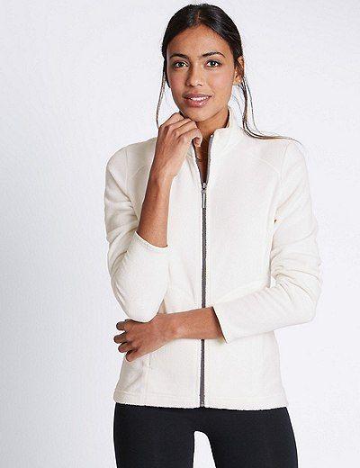 Funnel Neck Fleece Jacket | Marks & Spencer London