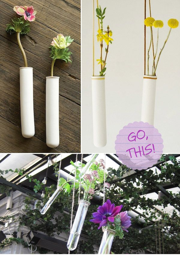 Oh, hello cutest test tube decorations ever. It's so nice to meet you! #wedding: Crafts Ideas, Fairies Tales Lik, Flowers Display, Decoration, Wedding, Cutest Test, Display Ideas, Test Tube, Tales Lik Flowers
