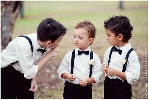 page boy wedding suit and black bow tie