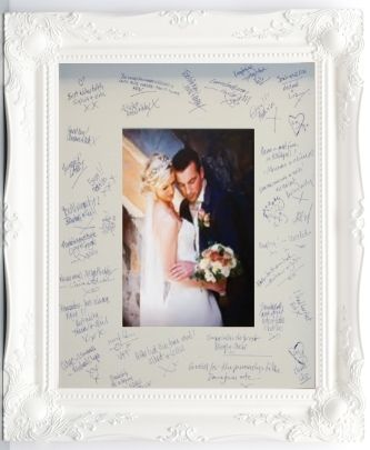 unique wedding signature frame for all your guests to sign on the big day http