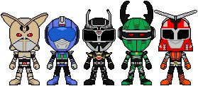 The Machine Empire Generals A group of villianis from Power Rangers Wild Force The costumes are reused from the Beetleborgs General Venjix Gerrok Steelon Automon Tezzla The credit for the basic tem...