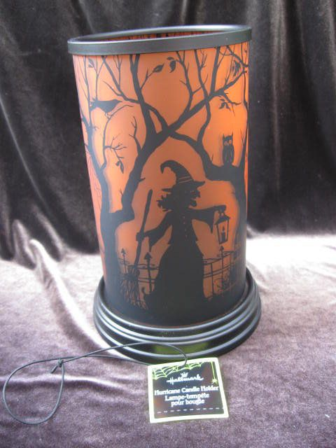 hallmark halloween wicked witch hurricane candle holder - Hallmark Halloween Decorations