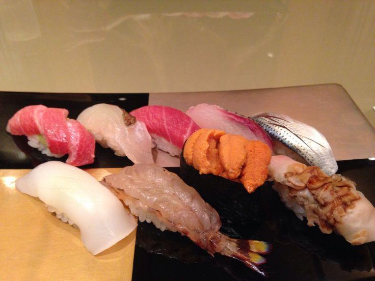 Delicious sushi @ Kyubei in Gonza 銀座久兵衛で、美味しいお鮨