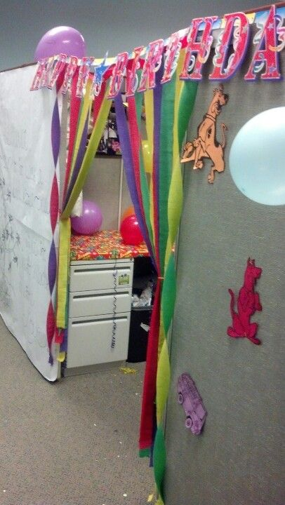 58 best images about birthday cubicle decorations on