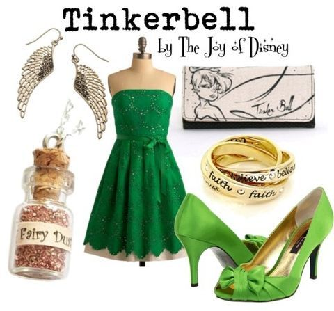 9 Disney Inspired Outfits ...                                                  I so want this pixie dust for my Tinkerbell costume.
