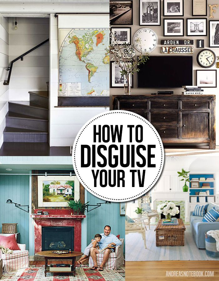 8 Genius Ways To Disguise And Hide A Tv Home Decor Diy Pinterest Fireplaces Notebooks