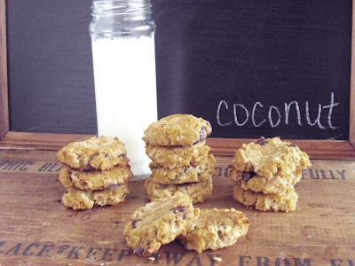 Gluten-Free Coconut Chocolate Chip Cookies (coconut flour)