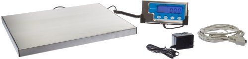 """Salter-Brecknell Lps400 Portable Shipping Scale With Lcd Display, 12"""" Length X 15"""" Width X 1"""" Height, 400Lbs Capacity, 2015 Amazon Top Rated Conventional Balances #BISS"""