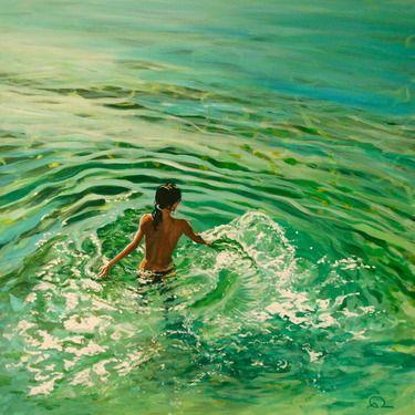Artist Antoine Renault; Painting, Rayon vert