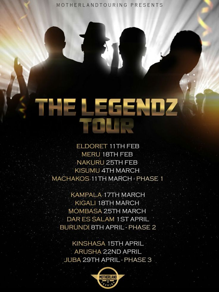 The Legendz Tour... Coming to a city near you #motherlandtouring
