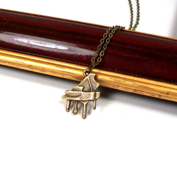 Piano Necklace  Piano Jewelry  Music Necklace  Music by Prdgy, $14.00