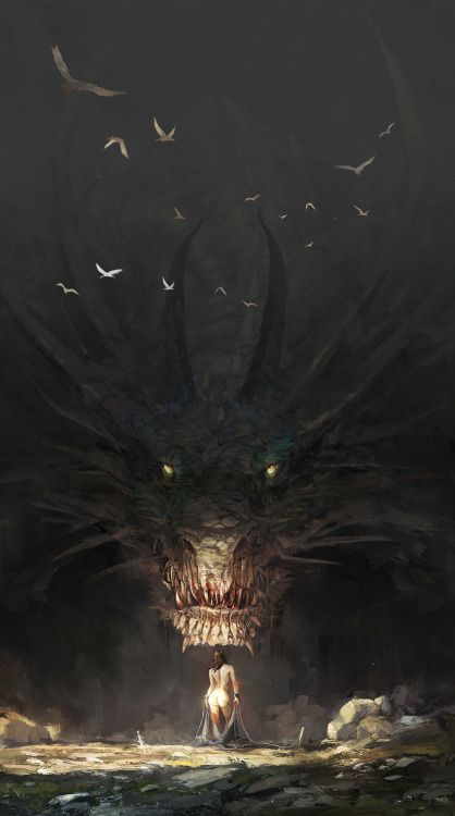 Dragon negro subterraneo