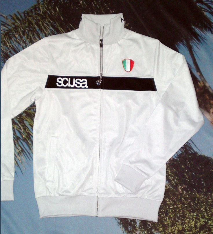 CALCIO ITALIA track jacket in FRANK WHITE    more info: www.scusa.com