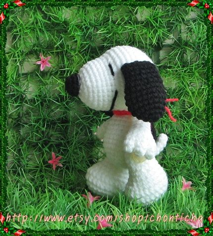Snoopy 5 inches - PDF amigurumi crochet pattern Snoopy, Patterns and Croche...