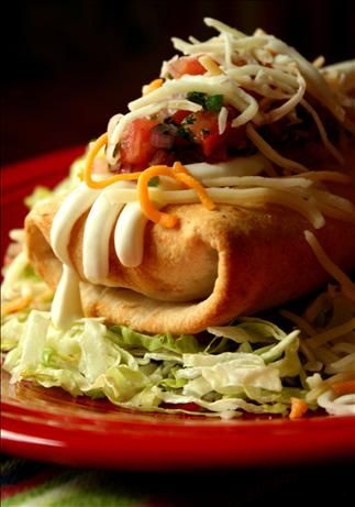 Baked Baja Beef Chimichangas-loved these! Crispy just like fried chimi's. Top them with all the usual chimi things and we think green chile would be good...smothered burrito type dish. Thanks boys! We were getting a manicure.