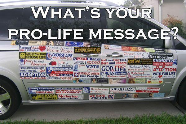ProLifeBumper.com, Pro-Life Magnetic Bumper Stickers