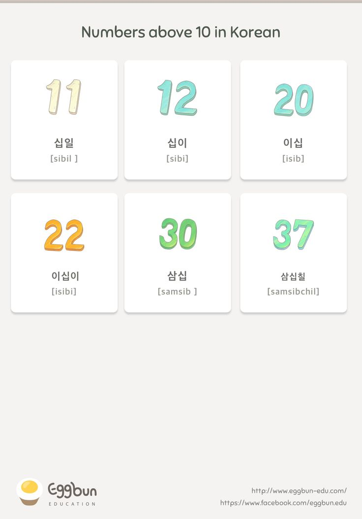 🇰🇷Numbers above 10 in Korean Chat to Learn K…