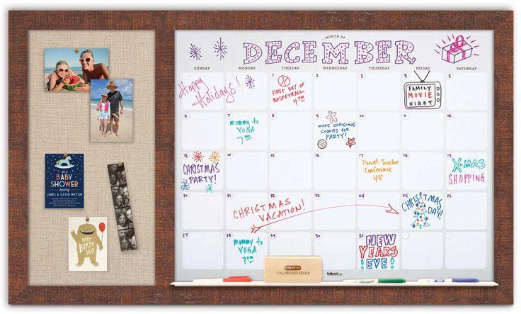 "Dry Erase Calendar 48"" x 28"""