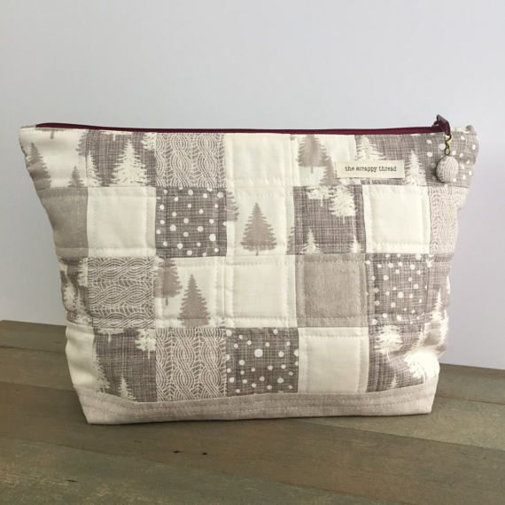 One-of-a-Kind Project Bag  'Large Zipper Sack by TheScrappyThread