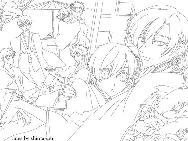 ouran highschool coloring pages - photo#45