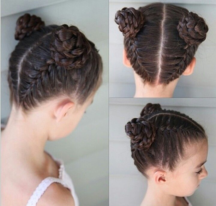 French Braids From The Bottom And The Top Into Braided