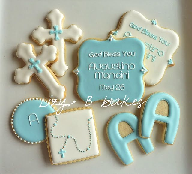 Lizy B: Baptism Cookies for a Sweet Little Boy!