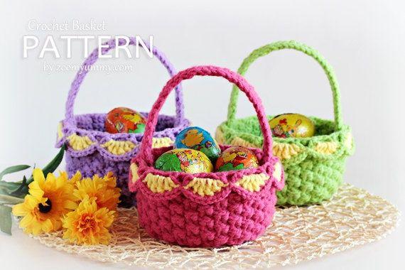 crochet easter patterns   crochet Easter basket - pattern   Crochet - Easter / Spring