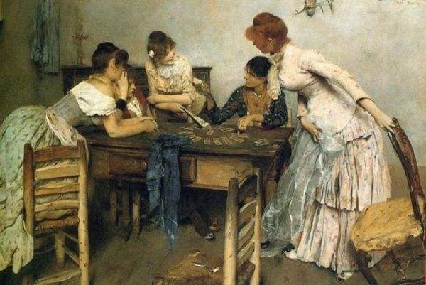 Ettore Tito 1859 - 1941 The Fortune Teller