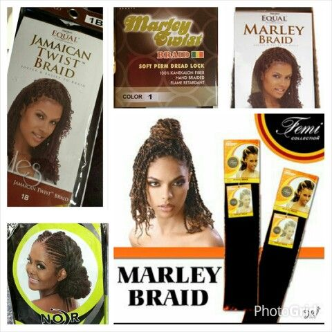 My preferred and most often used brands of Marley Braid Hair! (Equal Marley Braid, Janet Marley Braid, Afro Beauty Marley Braid, Equal Jamaican Twist Braid, Femi Marley Braid). #cocostyles81 #coco_styles81 #marleytwists #kinkytwists #jumbotwists #naturalhair #atlantabraider