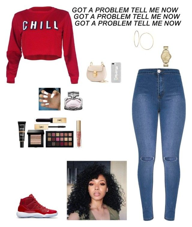 """""""Untitled #807"""" by thycravemir on Polyvore featuring NIKE, Rebecca Minkoff, Chloé, GUESS, Armani Exchange, NYX, Gucci, Bobbi Brown Cosmetics, Yves Saint Laurent and Too Faced Cosmetics"""