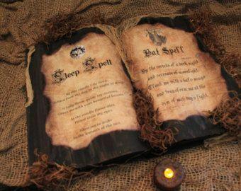 Handmade Halloween Spell Book Mermaid Spell by HauntedMoonEmporium