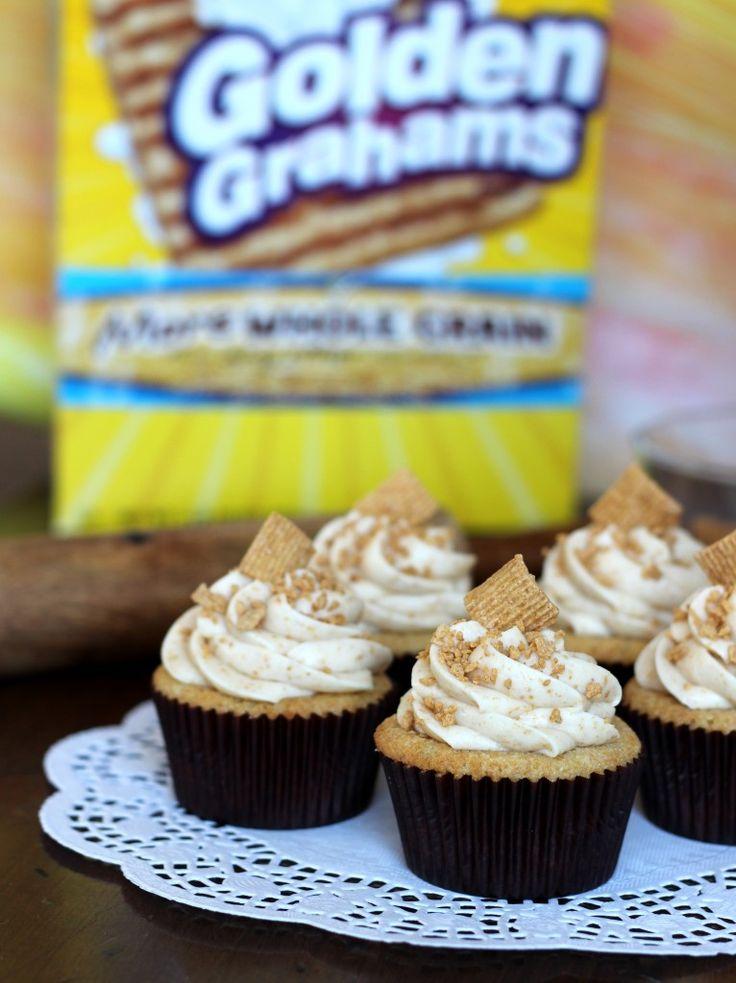 Golden Graham Cupcakes