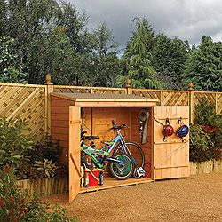 small bike shed b and q garden ideas bicycle storage. Black Bedroom Furniture Sets. Home Design Ideas