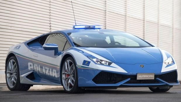 A Lamborghini Huracan is the Italian police force's newest car.