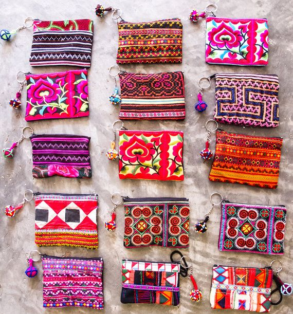 Mini Hmong Purse/Coin Bag/ Accessories/ Ethnic/ by CHEZMOIMYHOME, $5.00 cheap.thegoodbags.com MK ??? Website For Discount ⌒? Michael Kors ?⌒Handbags! Super Cute! Check It Out!