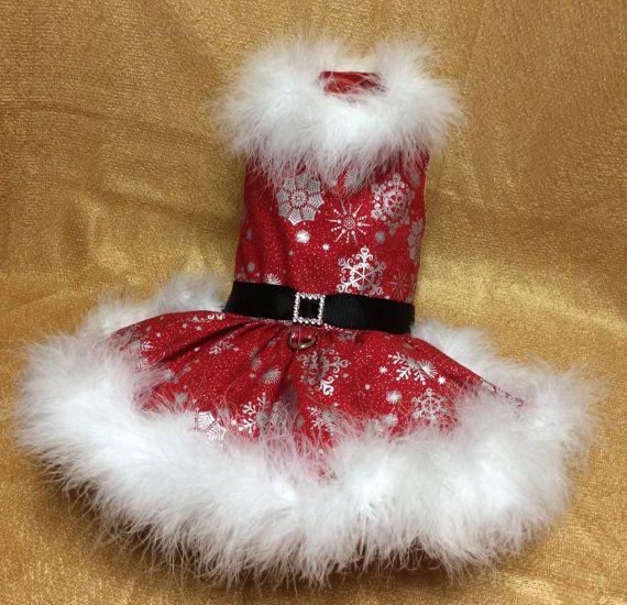 Little Mrs Santa Dog Dress by LittlePawsBoutique on Etsy