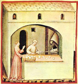 elaboración de pan en la edad media.