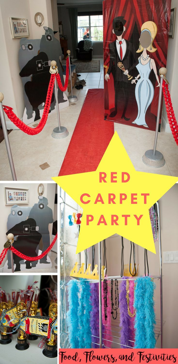 Red Carpet Movie Party Hollywood Party Theme Movie Themed Party Red Carpet Theme Party