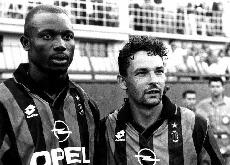 George Weah and Roberto Baggio at AC Milan.