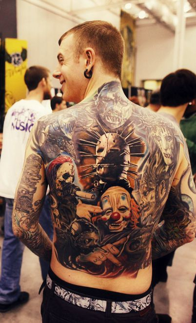 one sickk slipknot tattoo. i want want want.