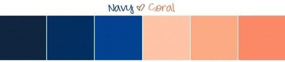 Wedding Inspiration Board | Navy + Coral