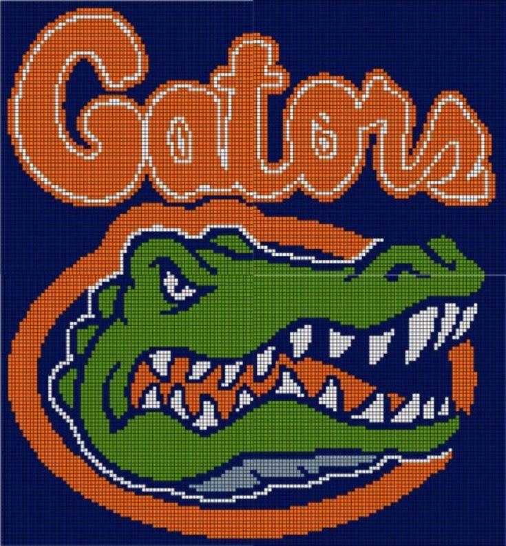 Florida Gator Knitted Blanket