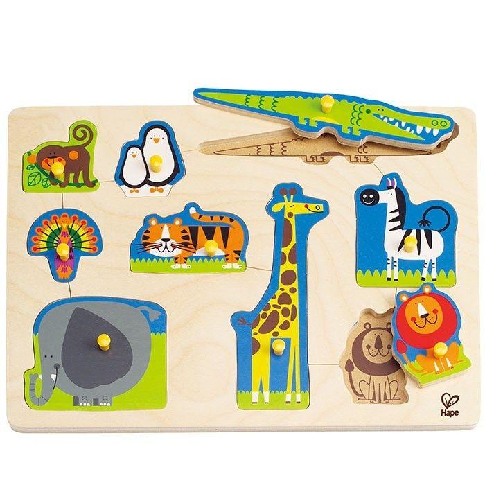 Wild Animals Peg Puzzle - Hape