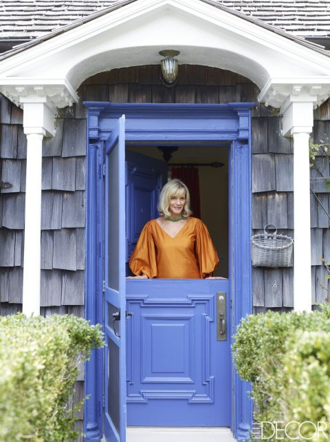 Fashion designer Lorry Newhouse at the Southampton, New York, home she shares with her husband, Mark.