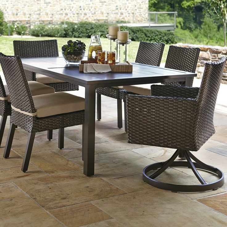 die 25+ besten ideen zu craftsman outdoor dining sets auf, Esszimmer dekoo
