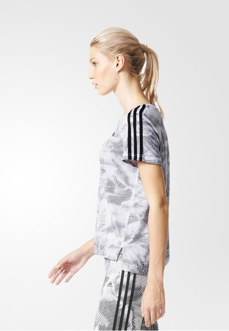 adidas Performance ESSENTIALS BOXY - Funktionsshirt - white/black - Zalando.de