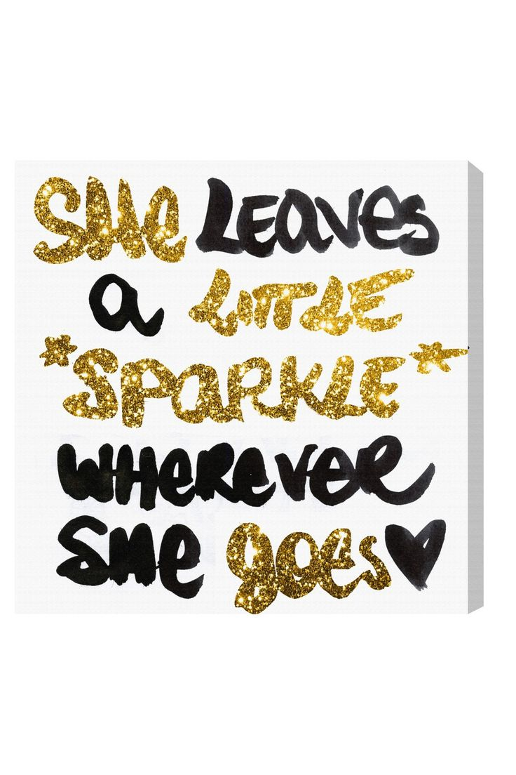 Oliver Gal Exclusive Little Sparkle Canvas Wall Art on @HauteLook