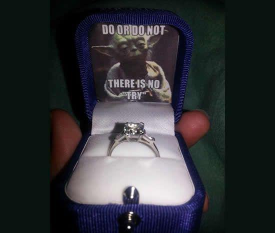Fascinating new wedding rings Star wars wedding ring holder